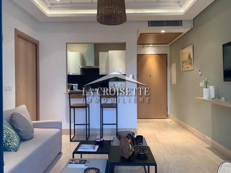 Magnifique appartement s+1 richement meublé aux Jardins de Carthage