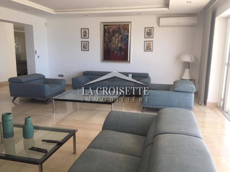 luxueux s+3 meublé vue mer à Sidi Bousaid
