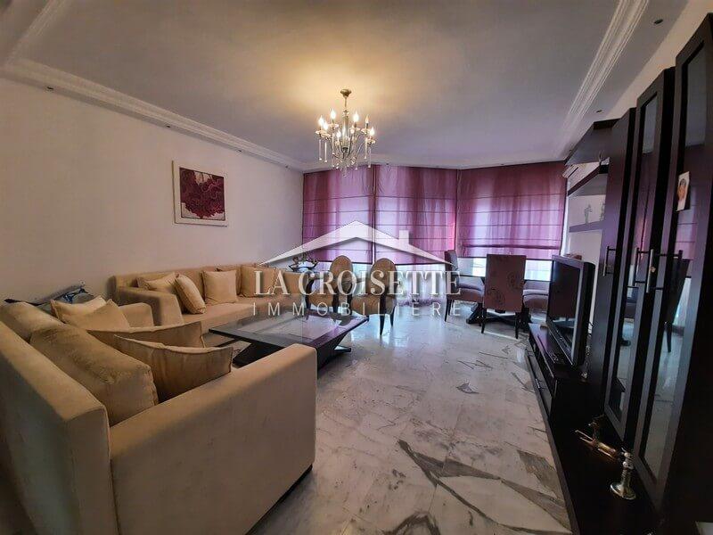 un appartement S+2 meublé vue mer à Gammarth