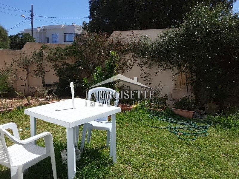 studio meublé avec jardin à Marsa Corniche