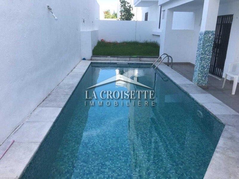 Souplex S+4 avec jardin et piscine à La Marsa