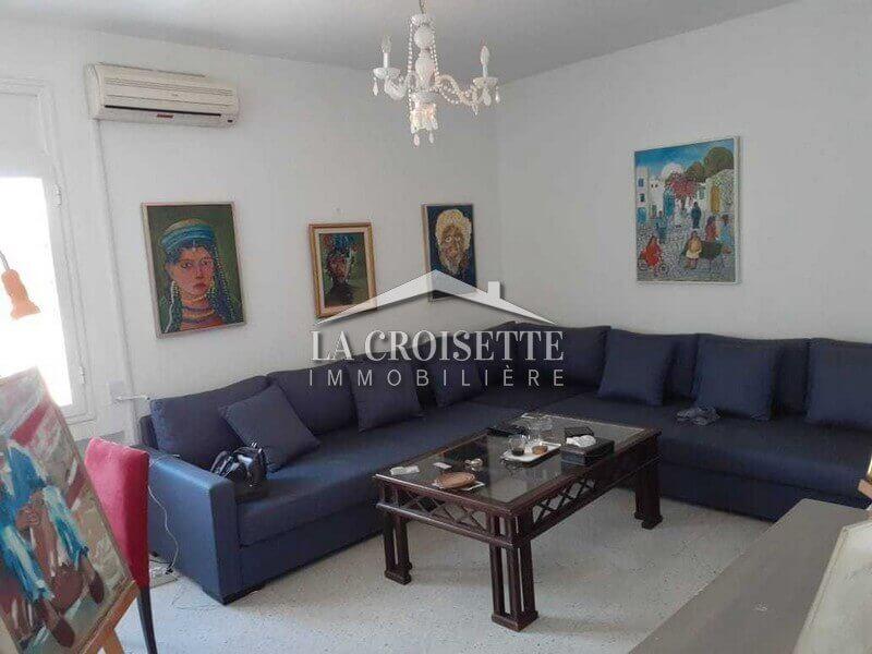 Étage de villa s+2 meublé à Carthage Présidence