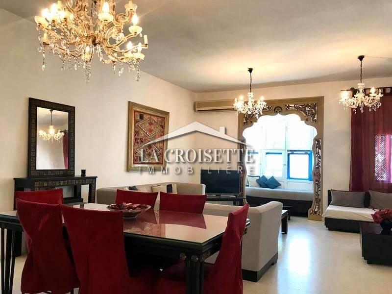Un étage de villa S+3 meublé à Sidi Bou Said