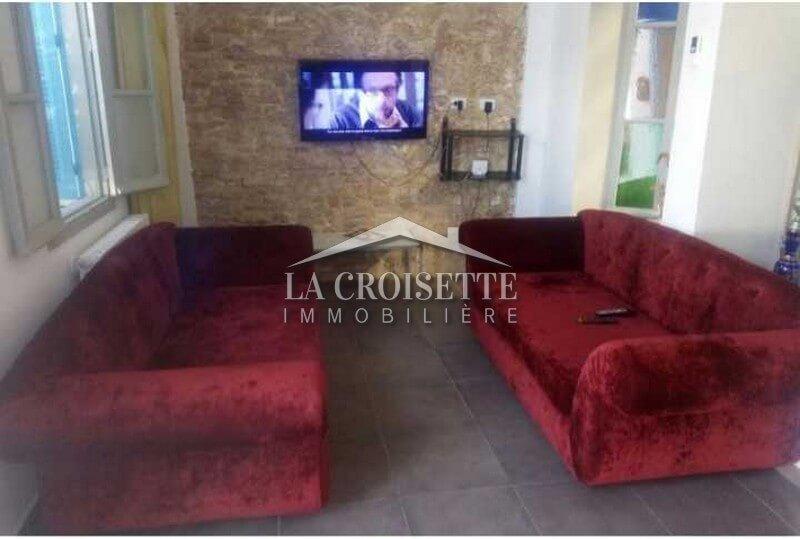rez-de-chaussée de villa S+3 meublé à La Marsa
