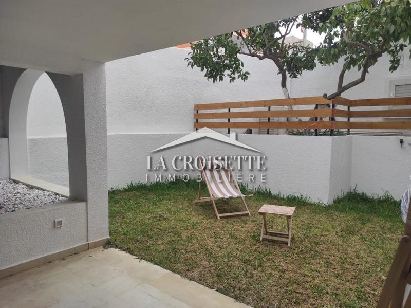 S+2 meublé avec jardin à La Marsa